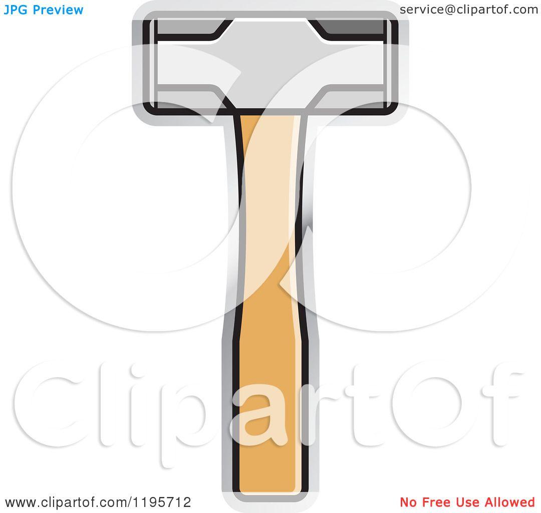 Vector Illustration Hammer: Clipart Of A Sledge Hammer Tool Icon