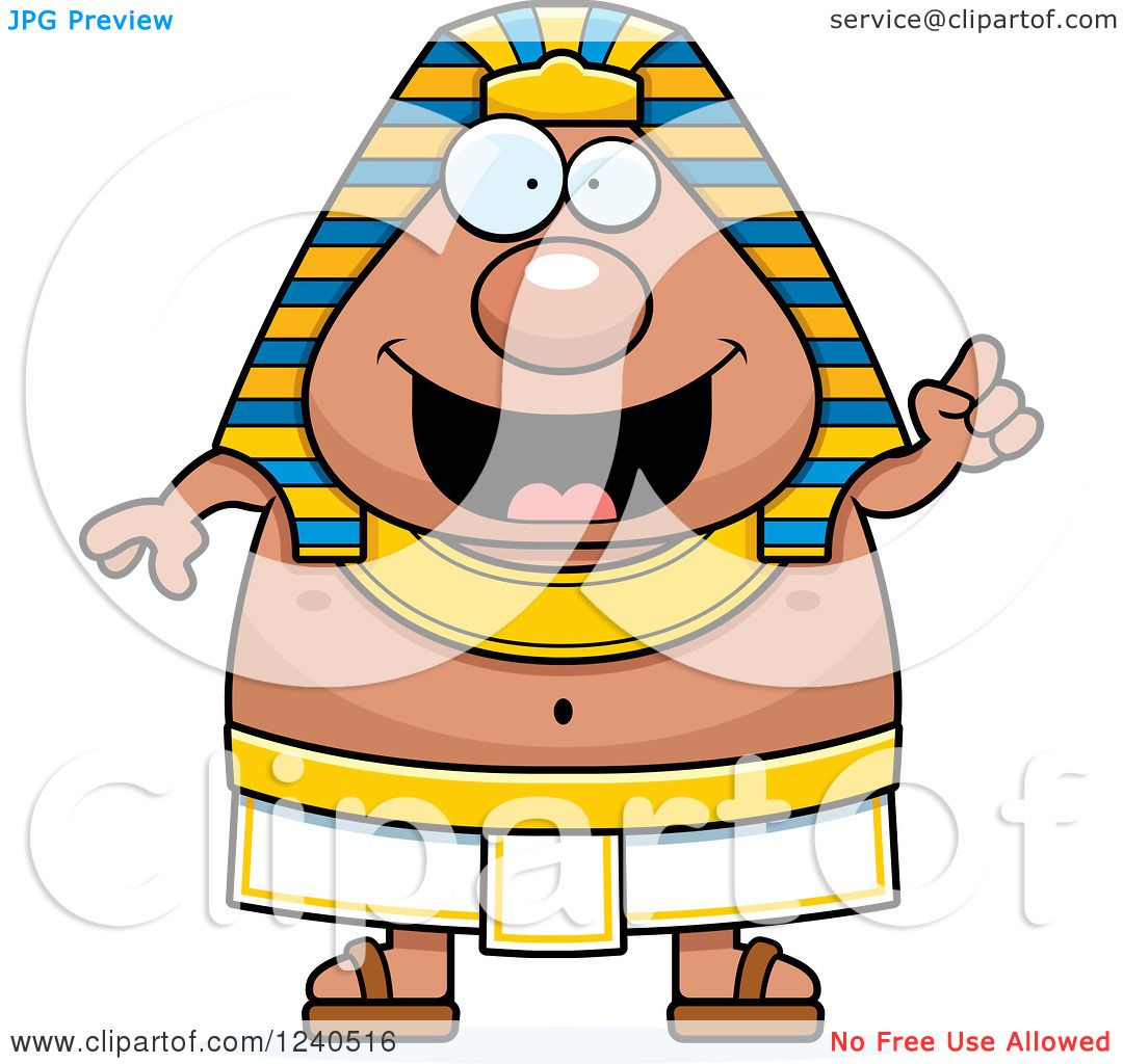 clipart of a smart ancient egyptian pharaoh with an idea royalty rh clipartof com pharaoh head clipart pharaoh clipart free