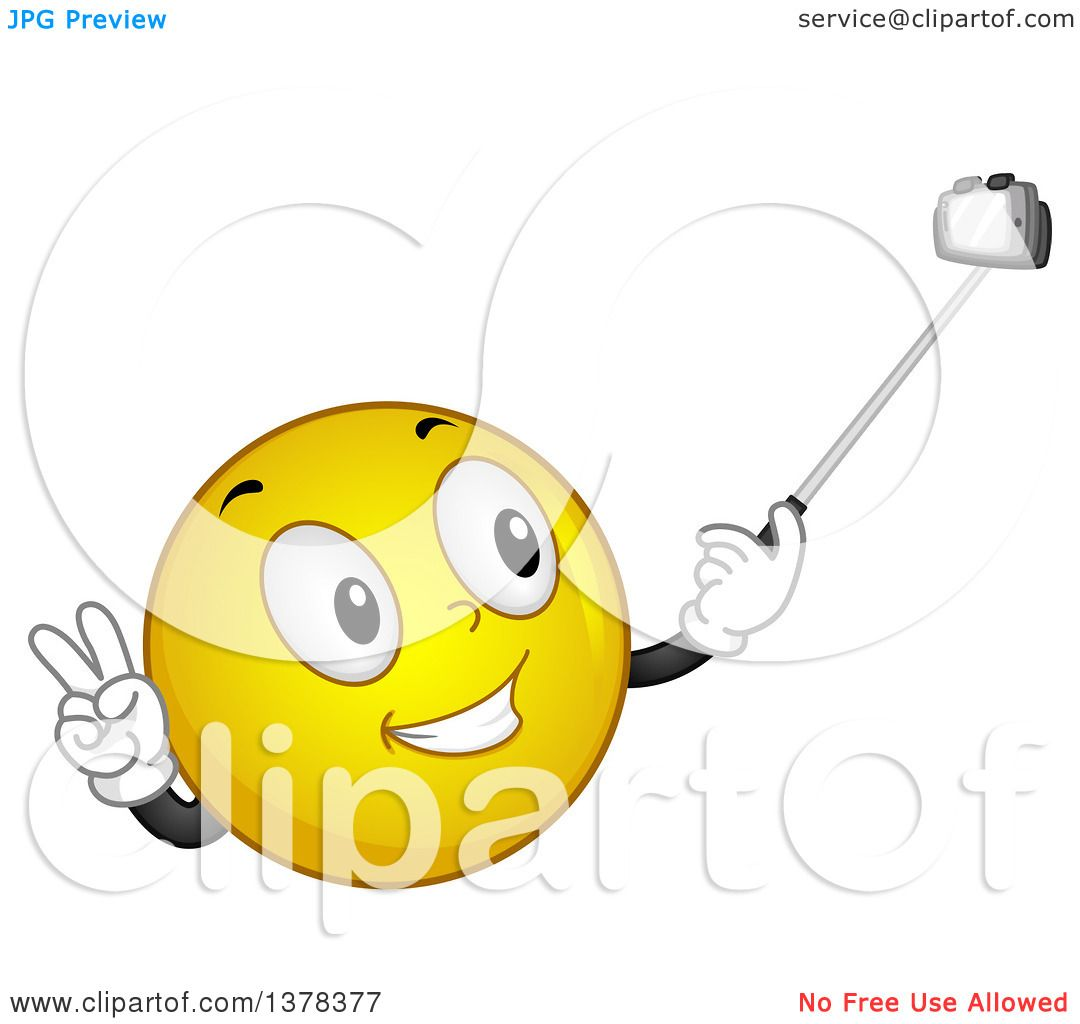 Clipart of a Smiley Emoji Taking