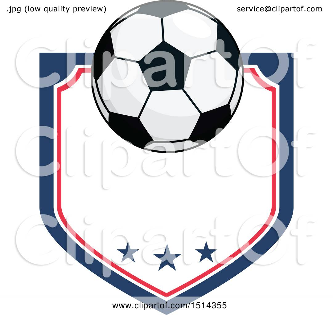 bbd9d4aa5e0 Clipart of a Soccer Ball Shield Design - Royalty Free Vector Illustration  by Vector Tradition SM