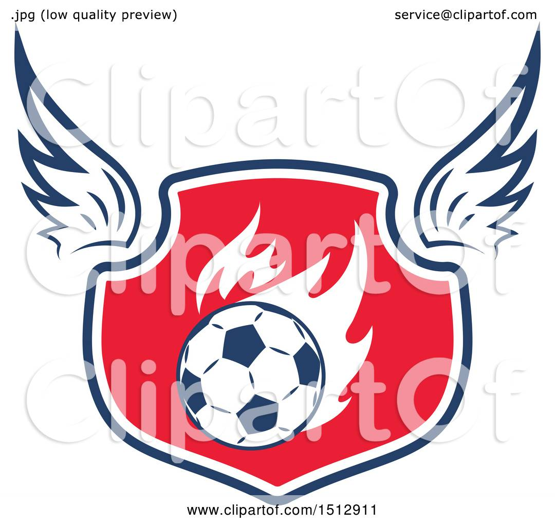 d554b43abbf Clipart of a Soccer Ball Shield - Royalty Free Vector Illustration by Vector  Tradition SM