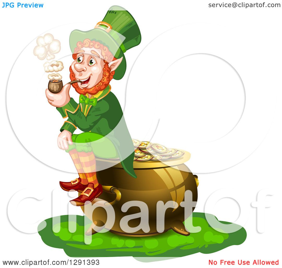 royalty free rf clipart illustration of a leprechaun woman