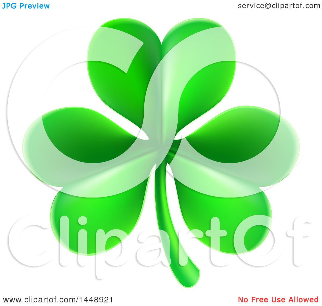 clipart of a st patricks day shamrock clover leaf royalty free
