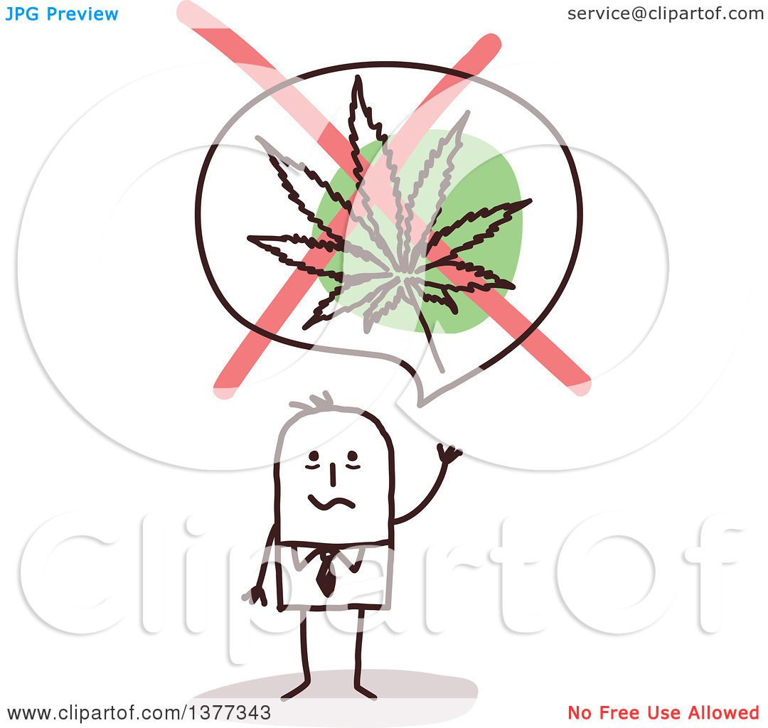 Clipart of a stick business man waving under a no marijuana leaf clipart of a stick business man waving under a no marijuana leaf symbol royalty free vector illustration by nl shop biocorpaavc