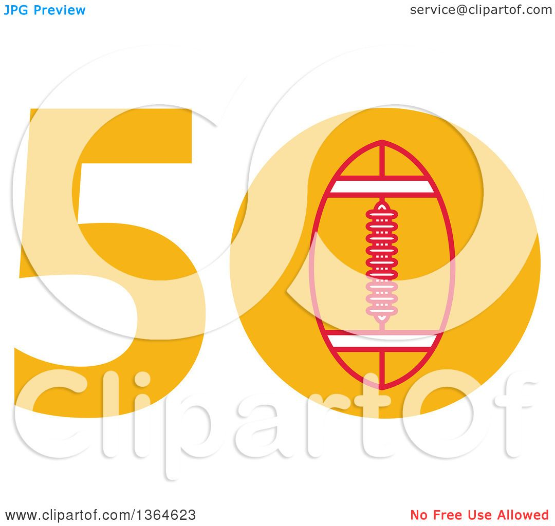Clipart of a Super Bowl 50 Sports Design with a Football in the ...