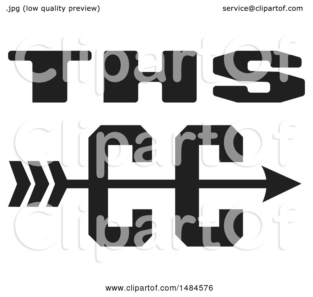 Clipart of a THS CC Cross Country Running Arrow Design in ...