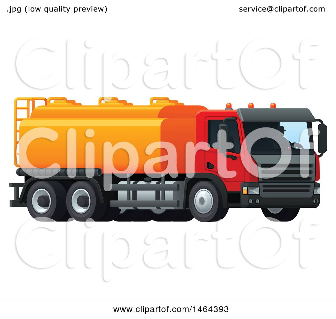 clipart of a tanker truck - royalty free vector illustration