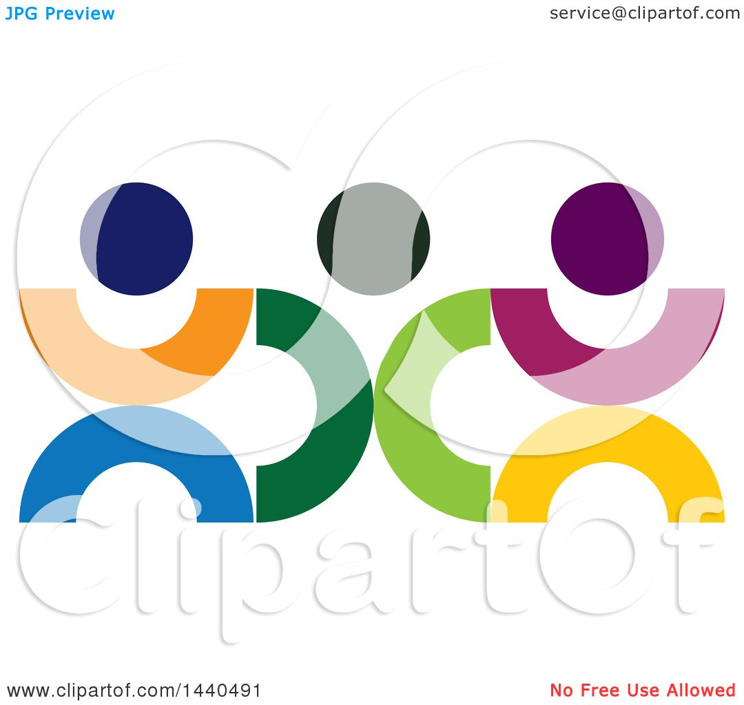 clipart of a teamwork unity group of colorful people royalty free rh clipartof com free teamwork clipart animated