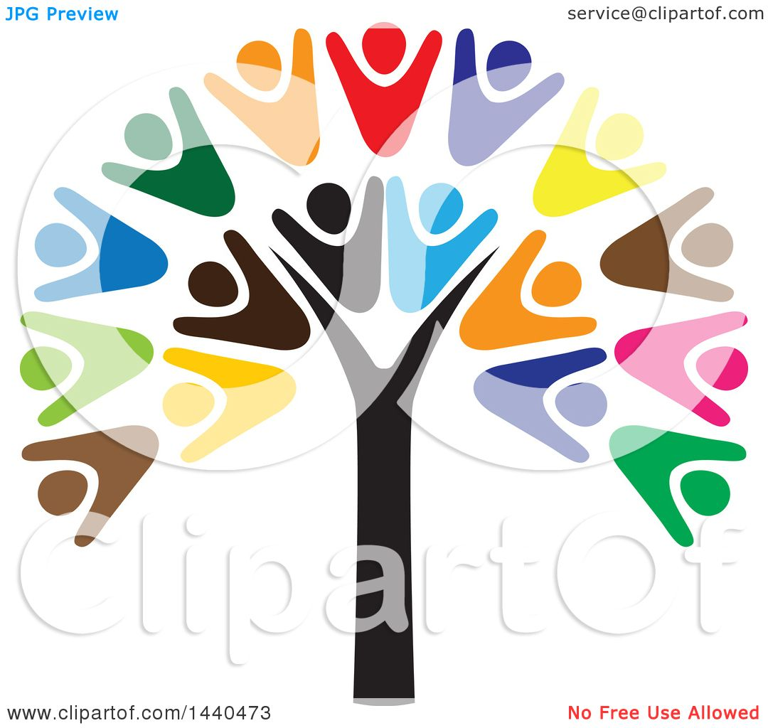clipart of a teamwork unity group of people forming a tree rh clipartof com Free Teamwork Funny free clip art teamwork cartoons