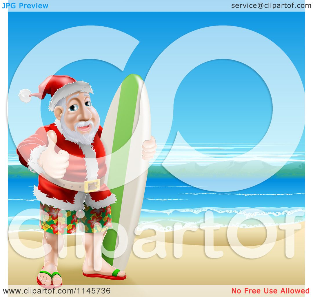 free clipart santa on the beach - photo #45