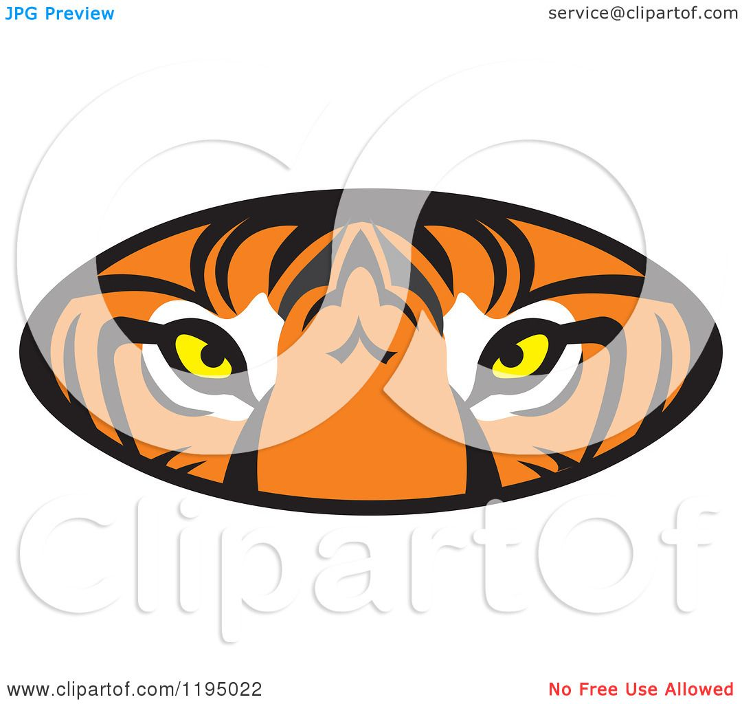 Clipart Of A Tiger Eyes Oval Royalty Free Vector Illustration By