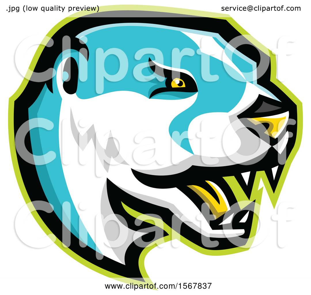 Clipart of a Tough North American River Otter Animal Mascot ...