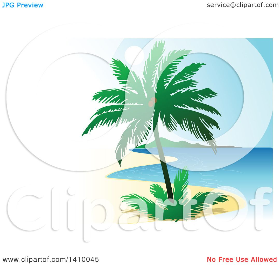 clipart of a travel background of a coconut palm tree and coastline rh clipartof com Outer Space Clip Art Outer Space Clip Art