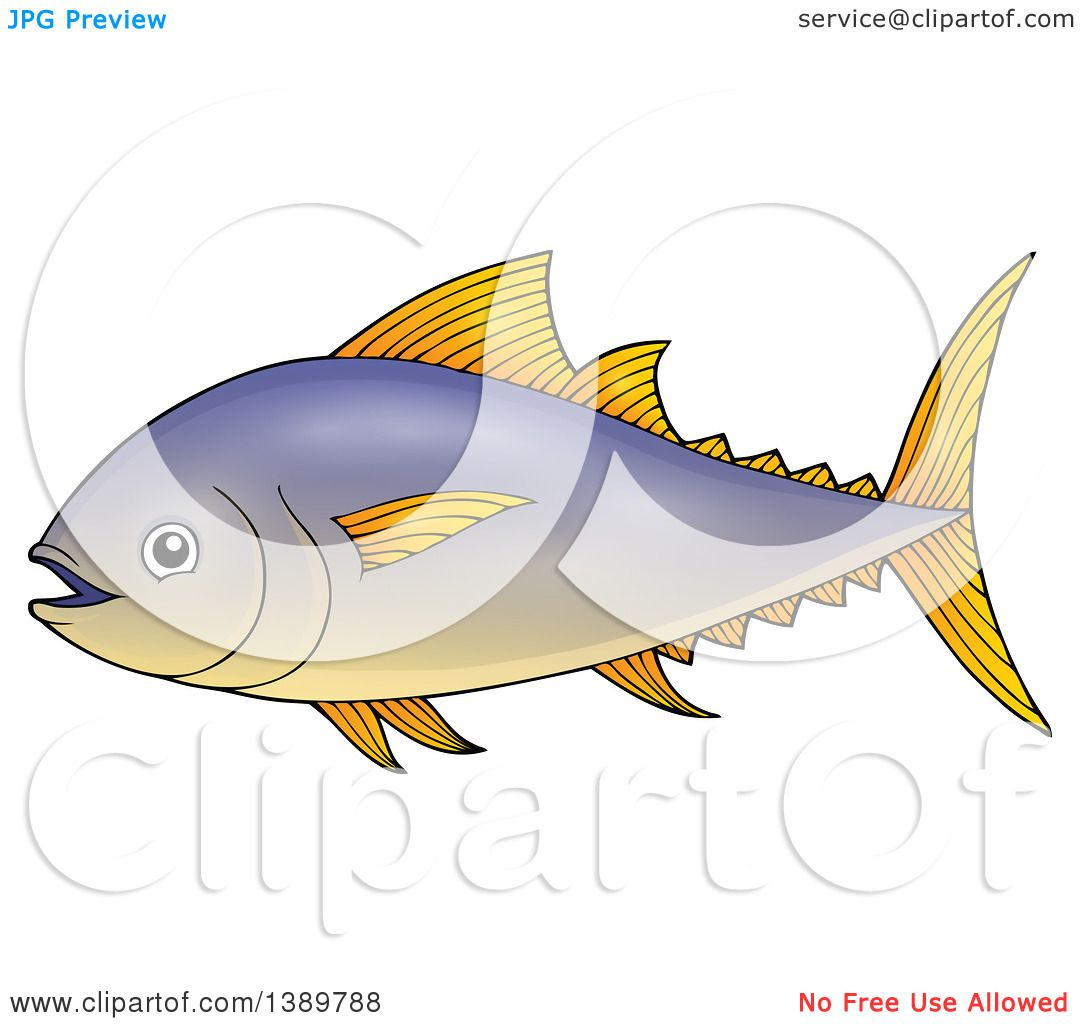 Clipart of a Tuna Fish - Royalty Free Vector Illustration by ...