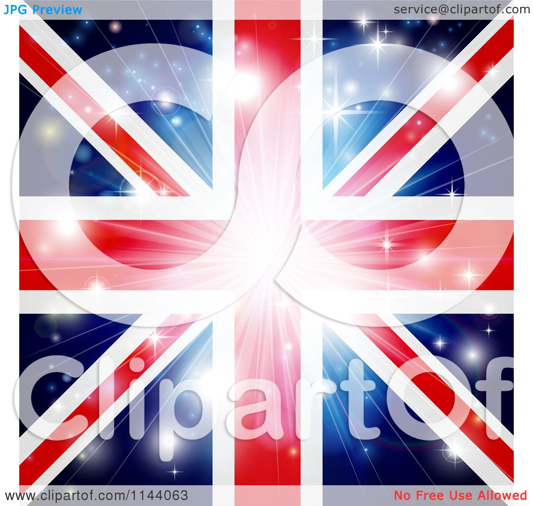 clipart painted union jack flag royalty free illustration by