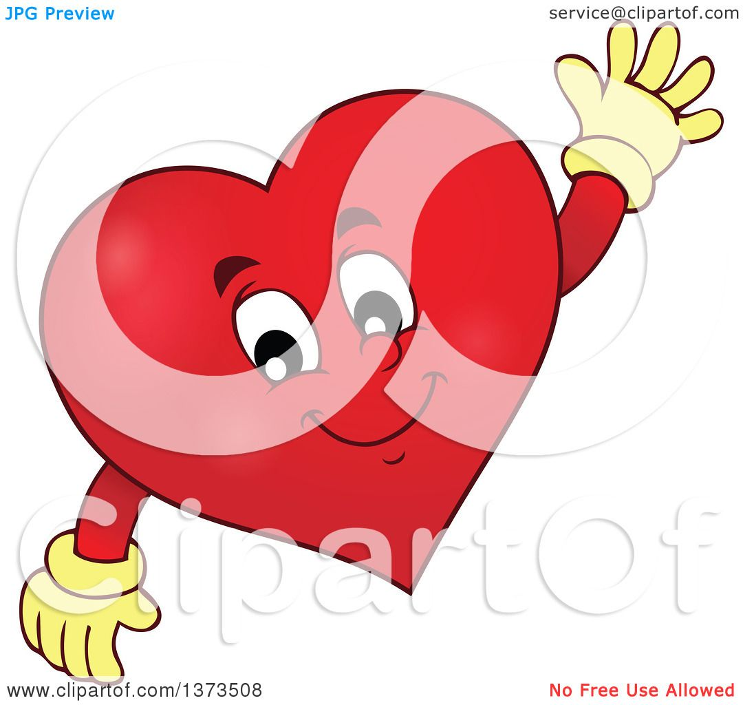Außergewöhnlich Clipart Of A Valentine Heart Character Waving   Royalty Free Vector  Illustration By Visekart
