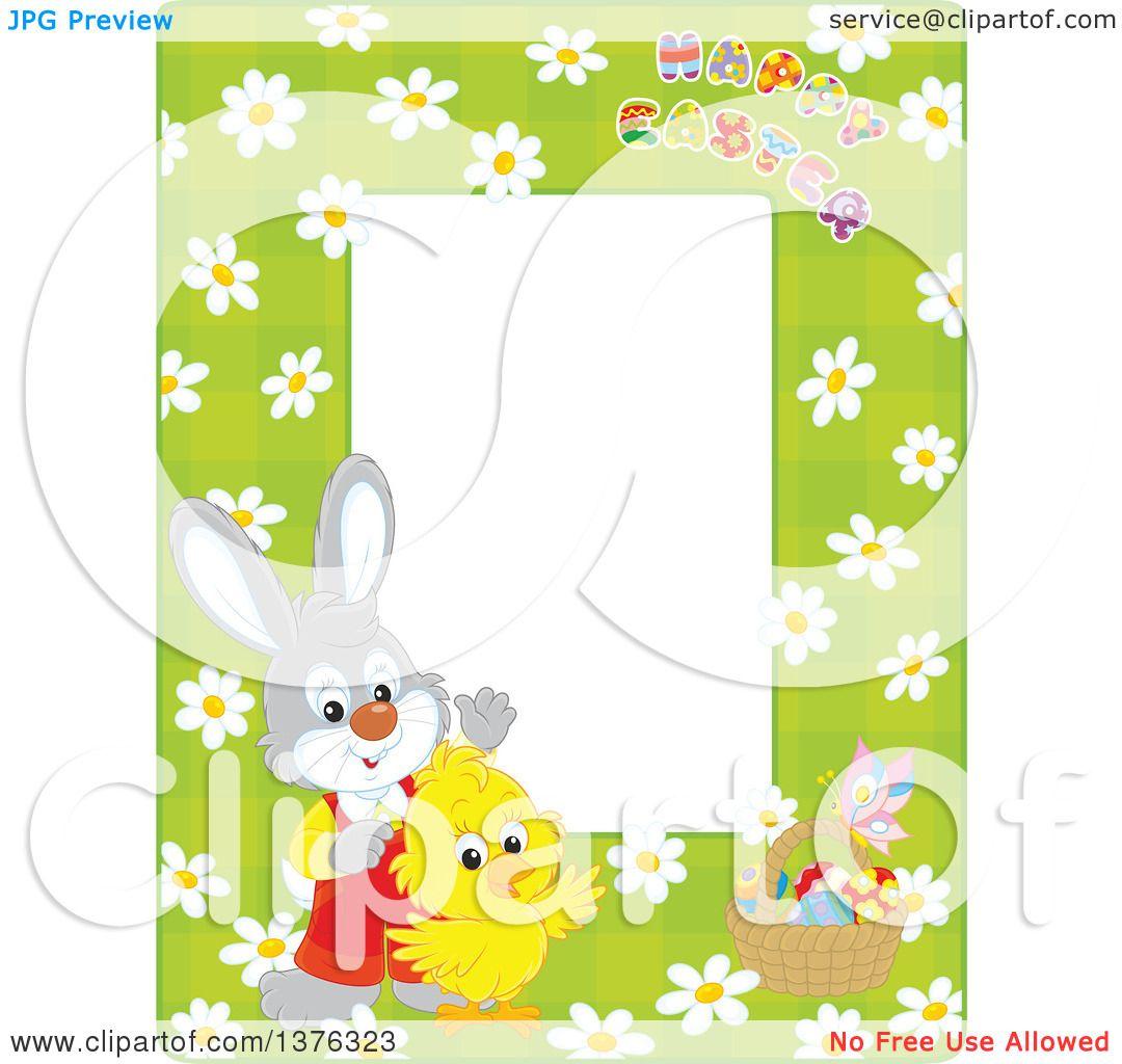 royalty free rf easter frame clipart illustrations vector