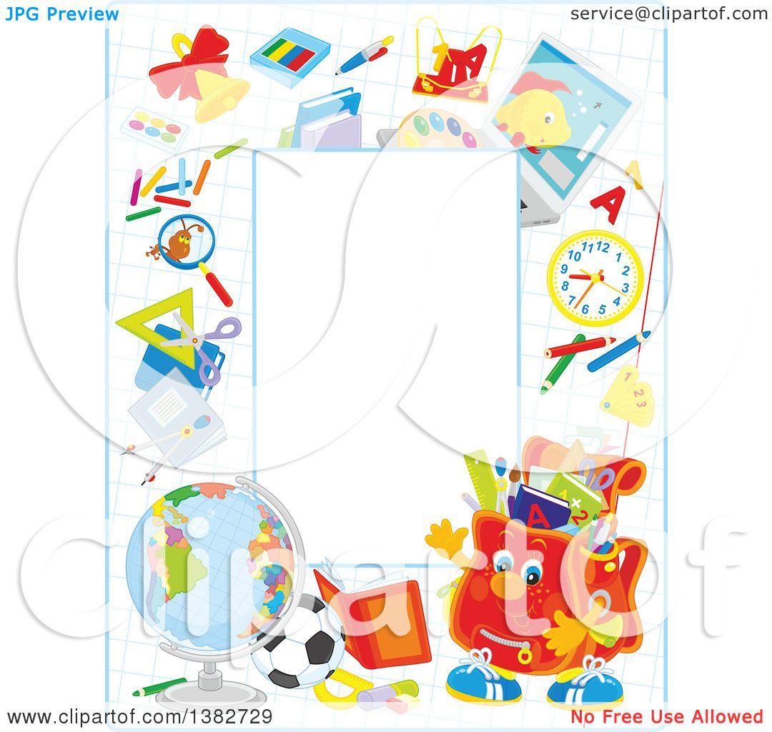 Royalty-Free (RF) Clipart of School Frames, Illustrations, Vector ...