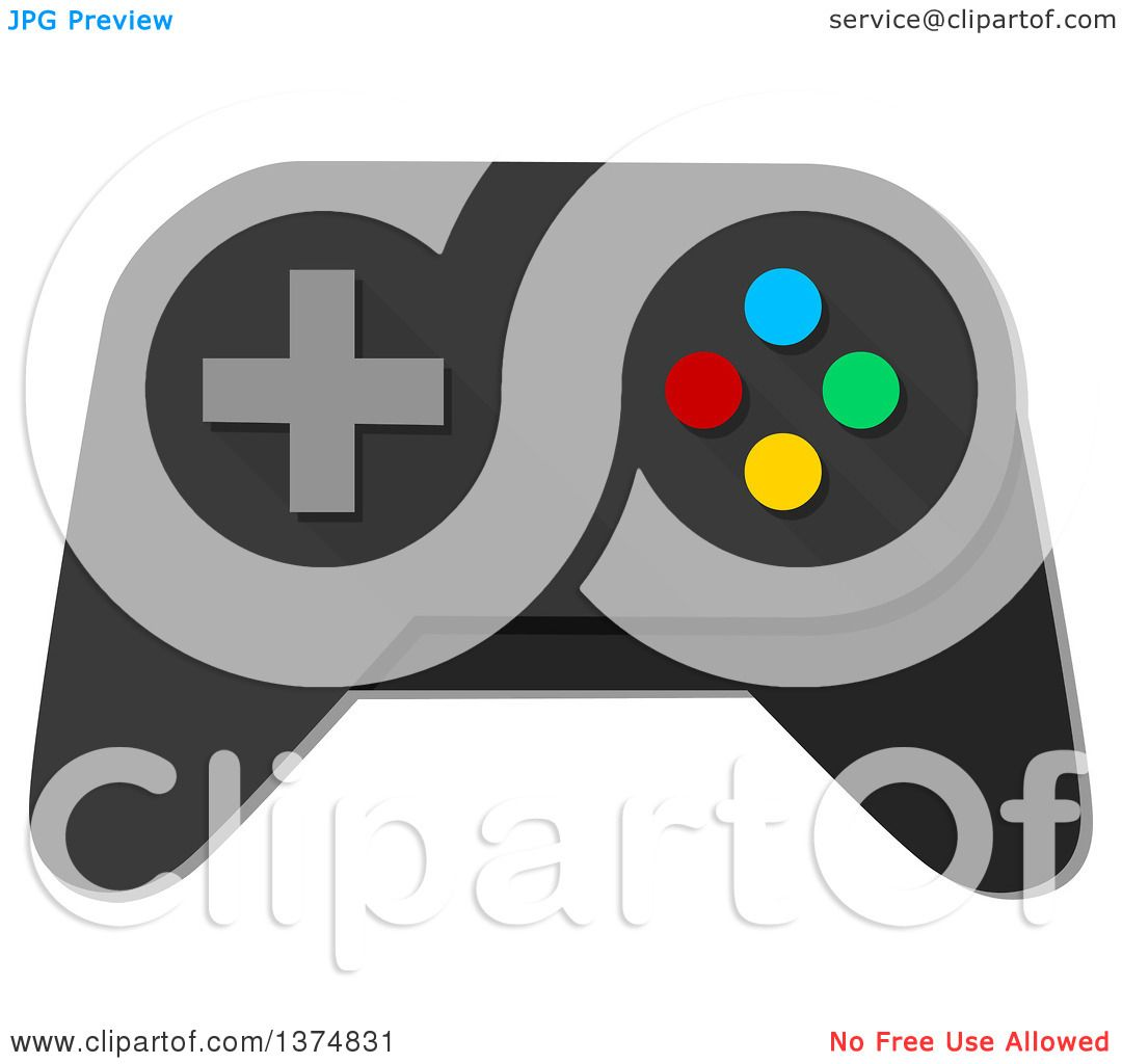 Clipart of a Video Game Controller - Royalty Free Vector ...