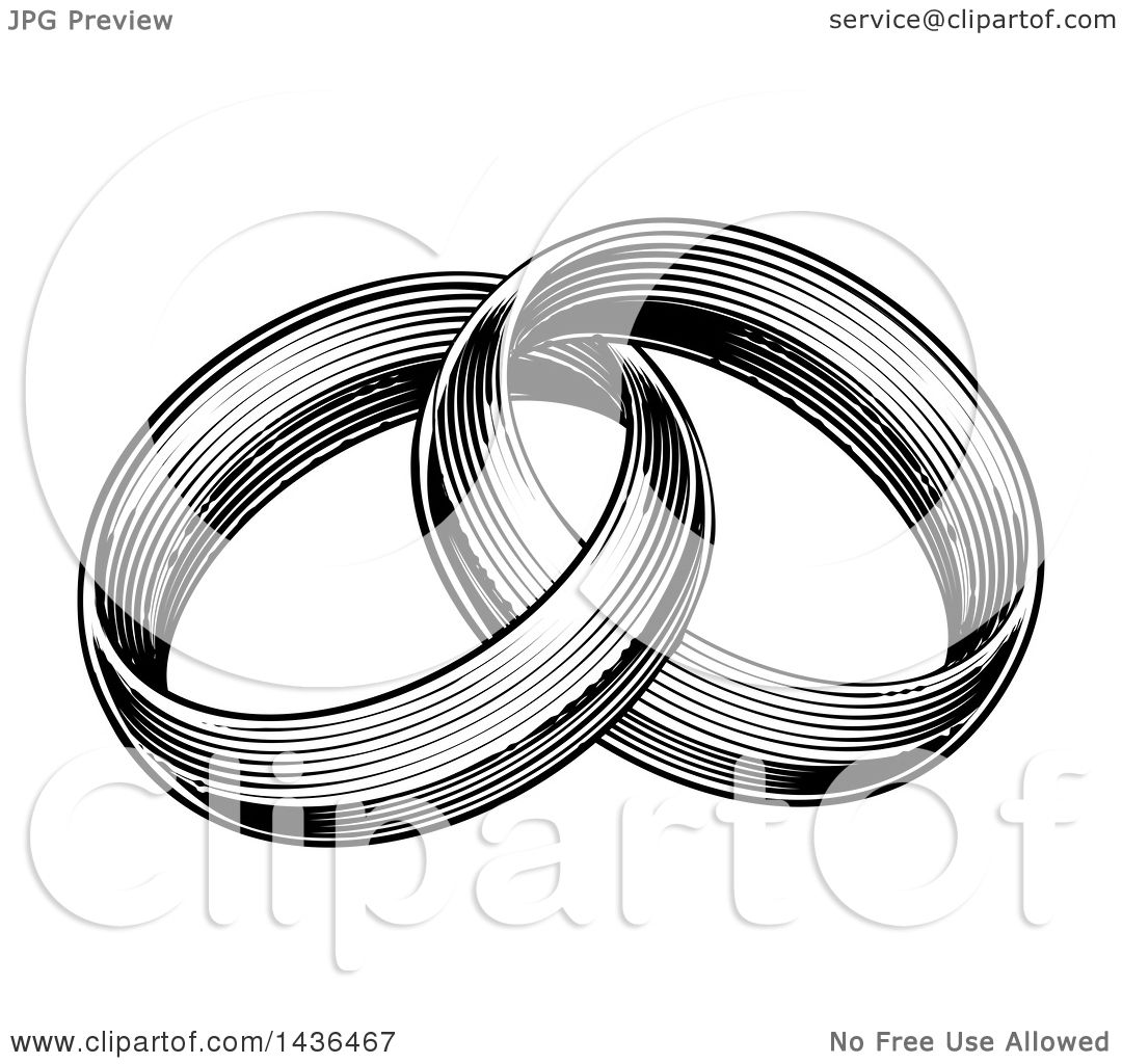 Clipart Of A Vintage Black And White Engraved Or Woodcut