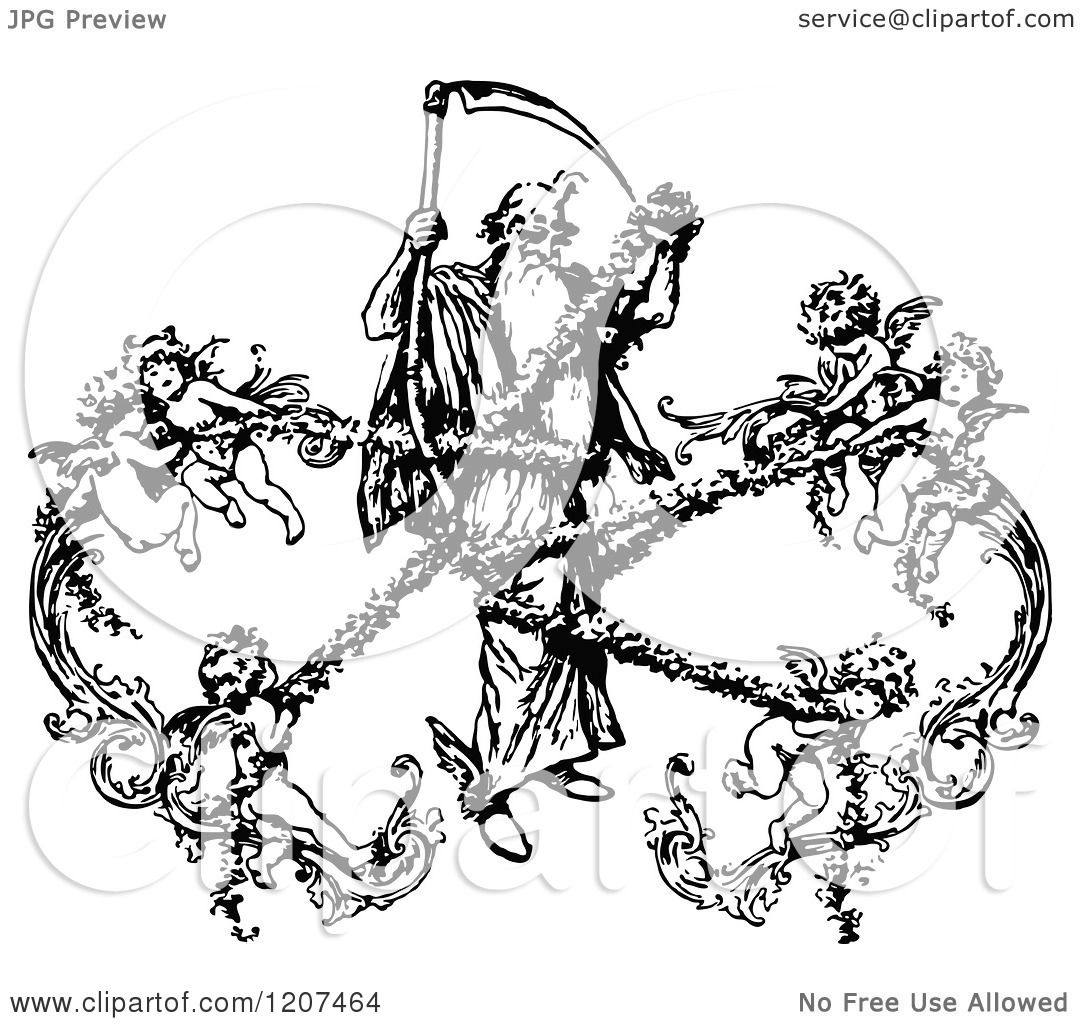 grim reaper with wings coloring pages