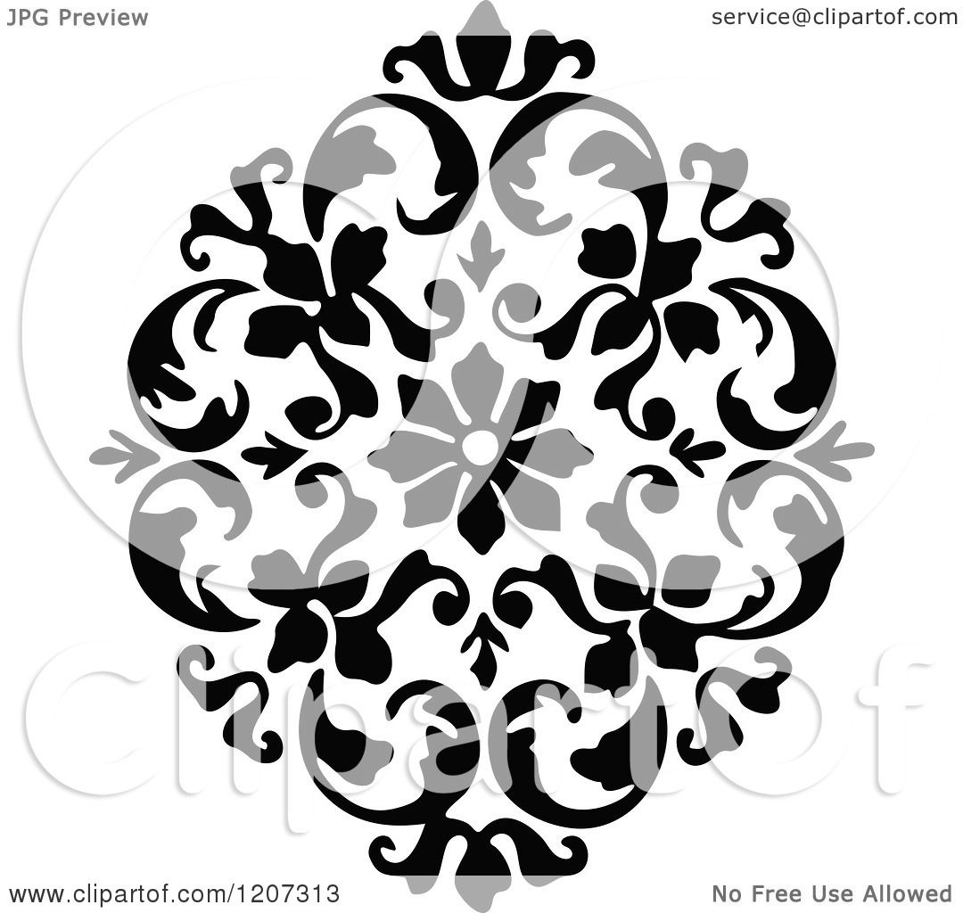 Clipart of a vintage black and white medieval design - Clipart illustration ...