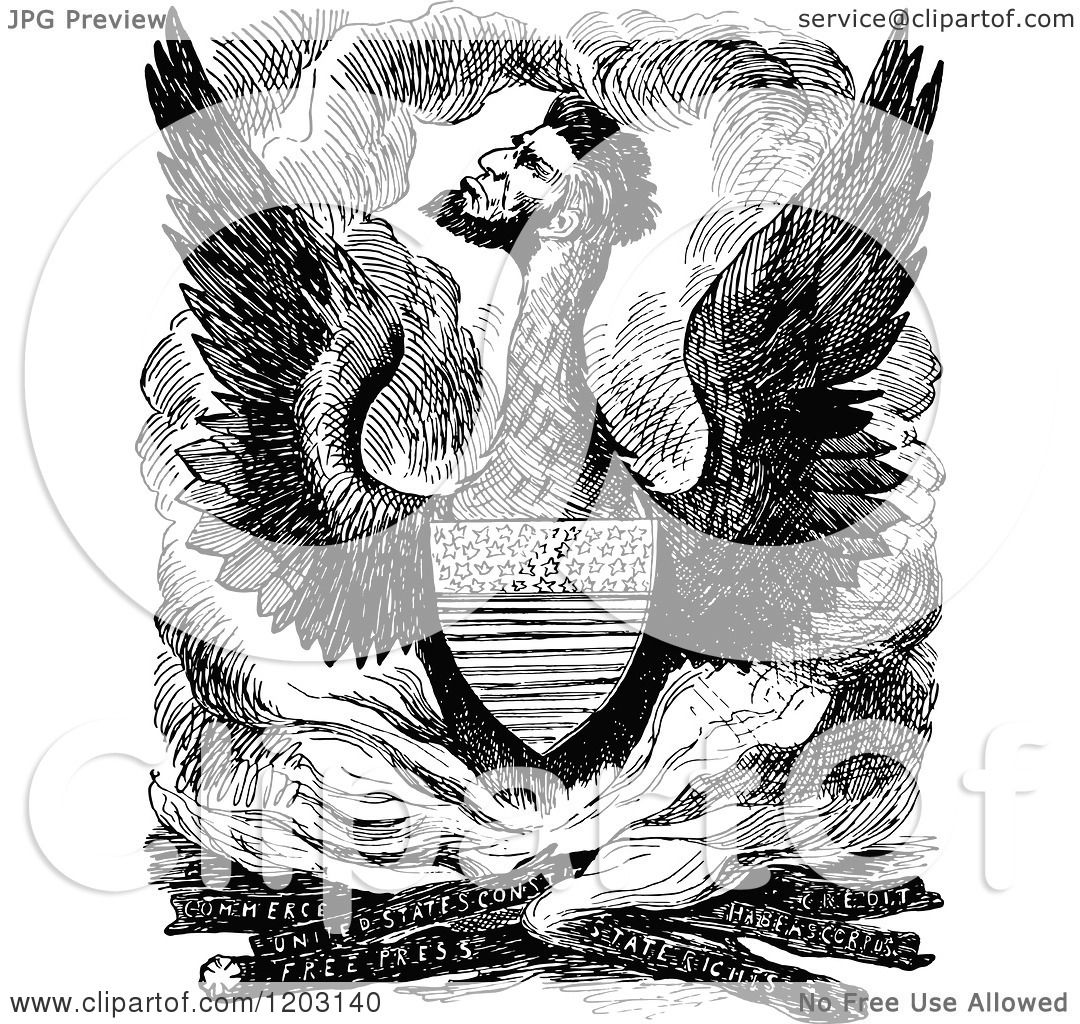 Clipart Of A Vintage Black And White Scene Of Abraham