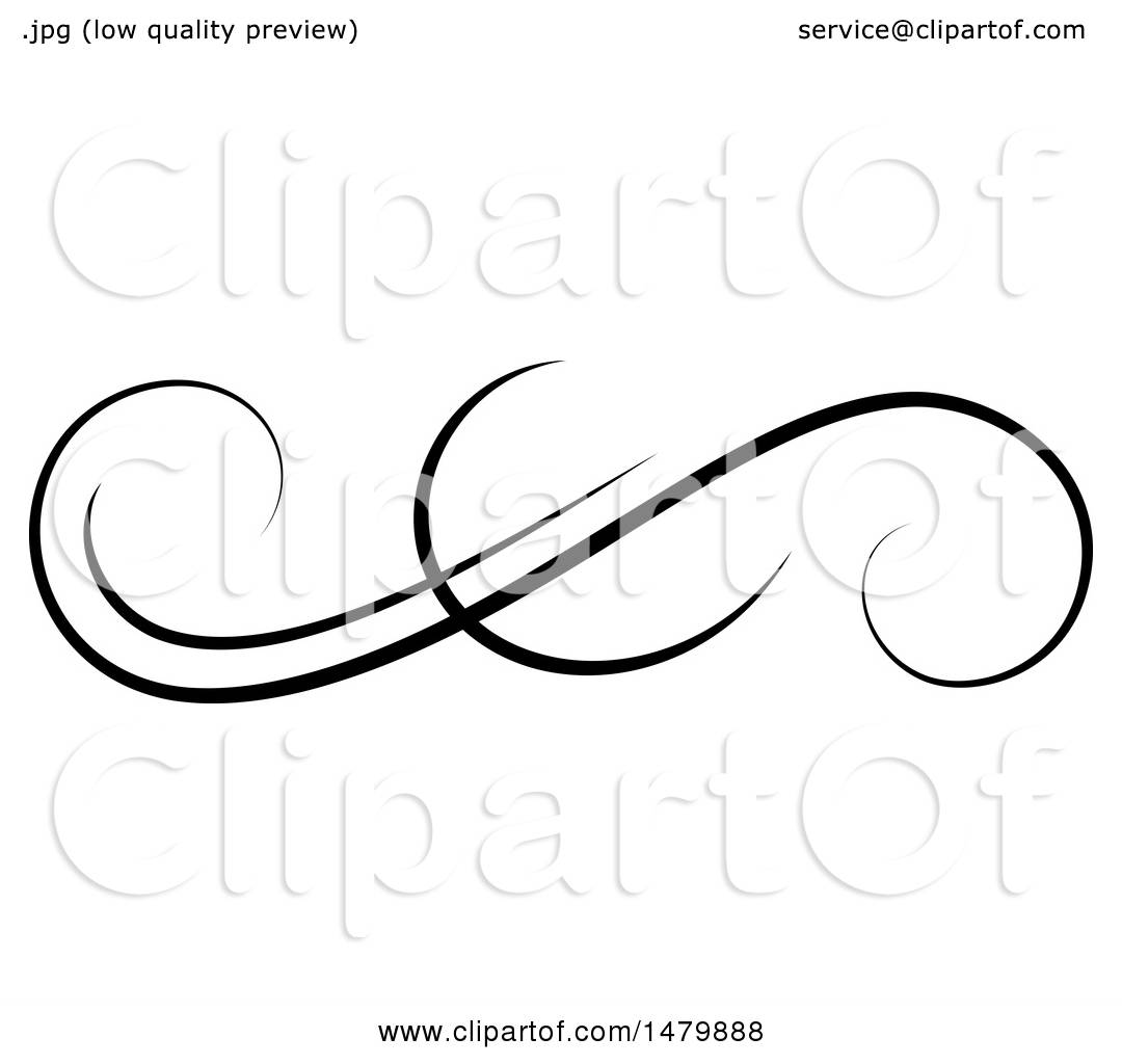 Clipart of a Vintage Calligraphic Design Element - Royalty ...