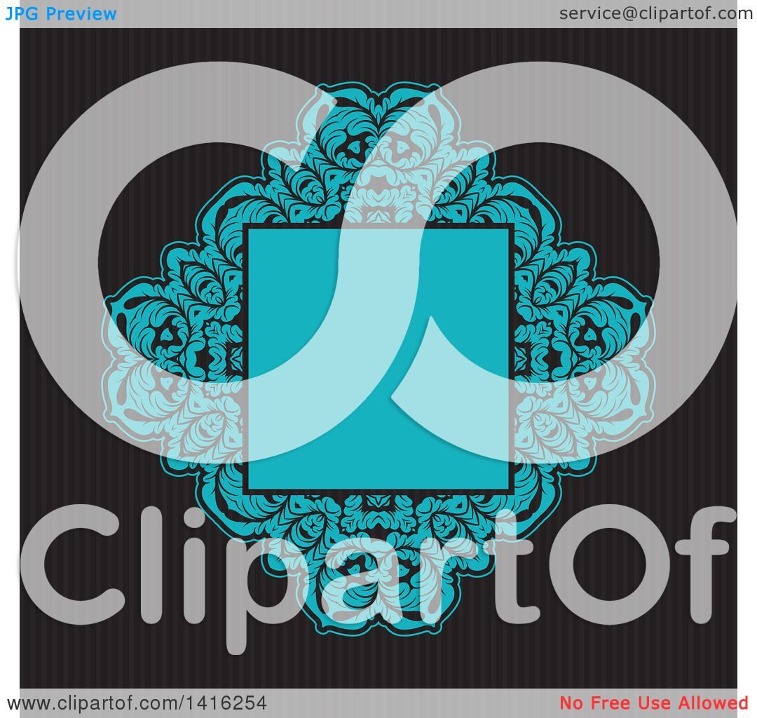 Clipart of a Wedding Invitation Background of