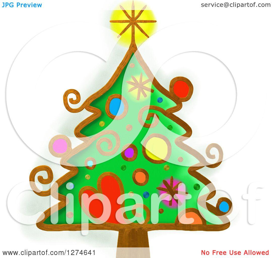 whimsical christmas tree clip art free - photo #18