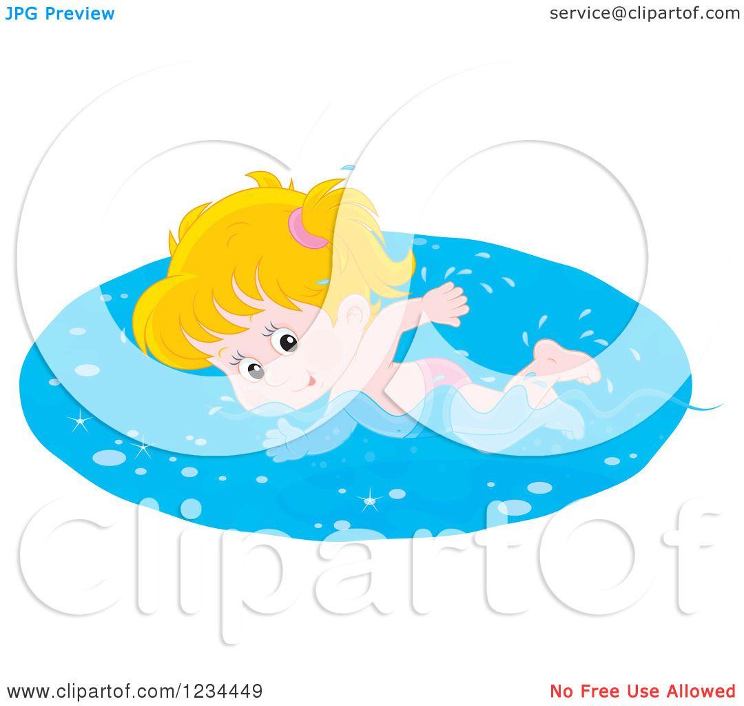 Girl Swimmer Silhouette Free Vector