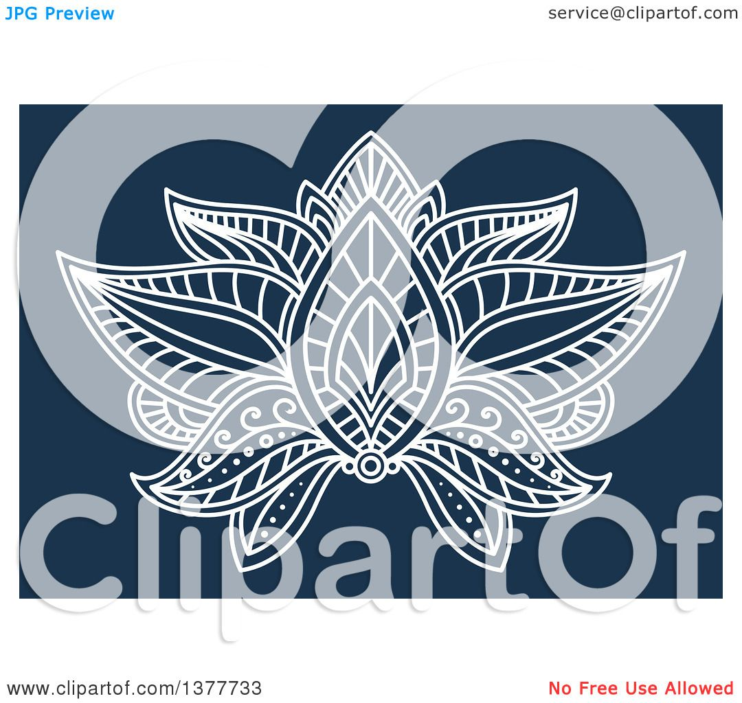 Clipart of a white henna lotus flower on blue royalty free vector clipart of a white henna lotus flower on blue royalty free vector illustration by vector tradition sm izmirmasajfo