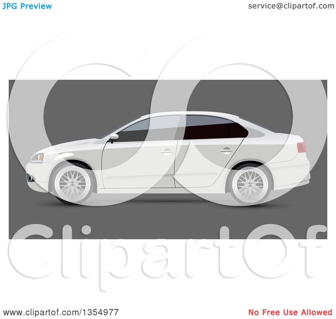 Clipart of a White Sedan Car with Dark Window Tint on Gray ... (1080 x 1024 Pixel)