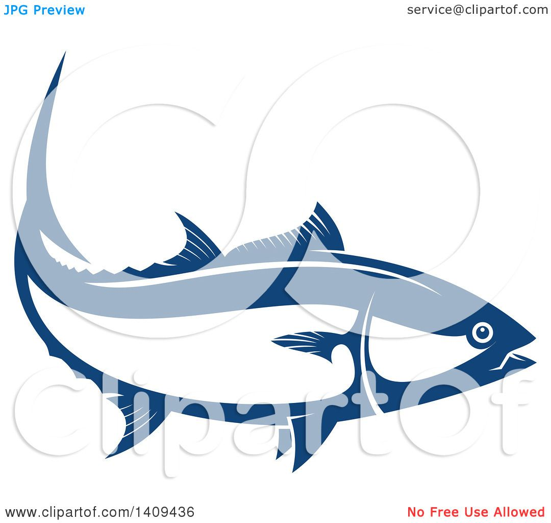 Clipart Of A Wild Alaskan Salmon Seafood Design Royalty