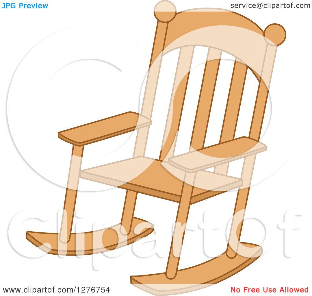 Rocking Chair Clip Art ~ Clipart of a wood rocking chair royalty free vector