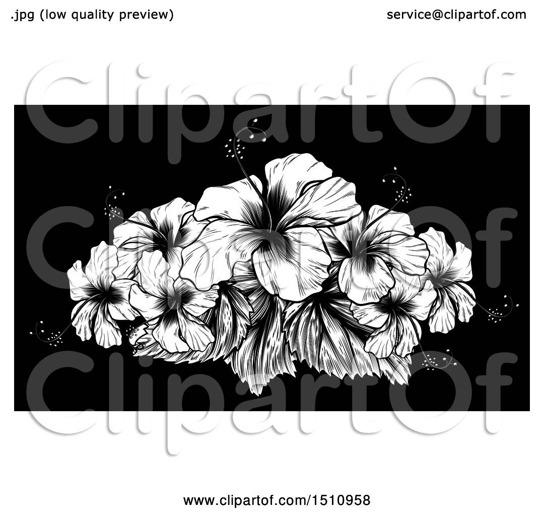 Clipart of a woodcut hibiscus flower design on black royalty free clipart of a woodcut hibiscus flower design on black royalty free vector illustration by atstockillustration izmirmasajfo