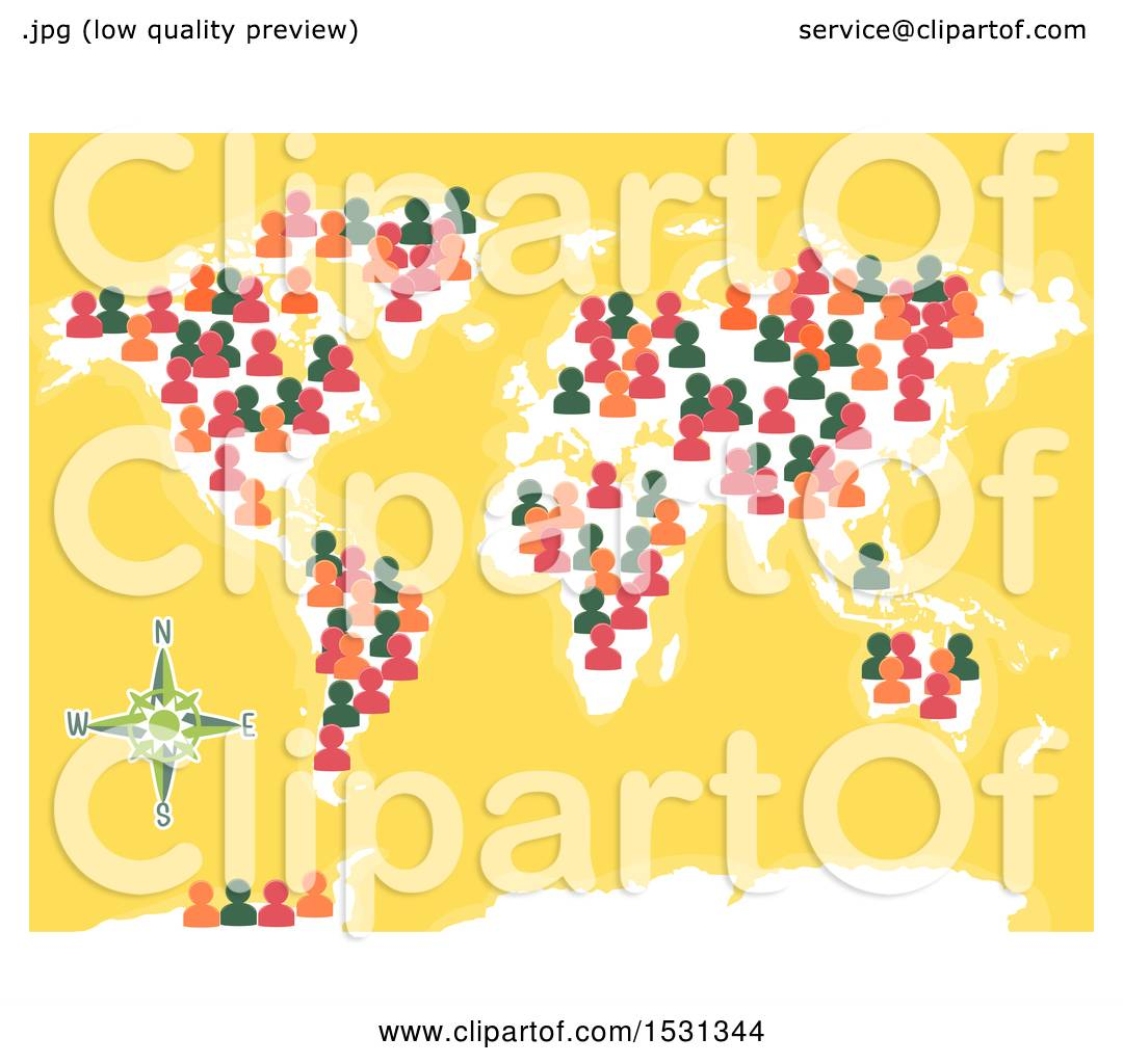 Clipart of a world map with people icons royalty free vector clipart of a world map with people icons royalty free vector illustration by bnp design studio gumiabroncs Images