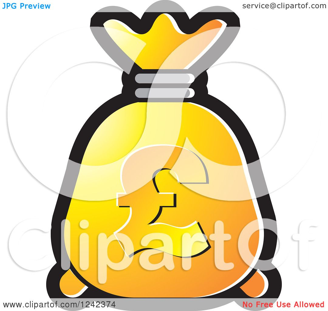 Clipart of a yellow and orange money bag with a pound currency clipart of a yellow and orange money bag with a pound currency symbol royalty free vector illustration by lal perera buycottarizona Choice Image