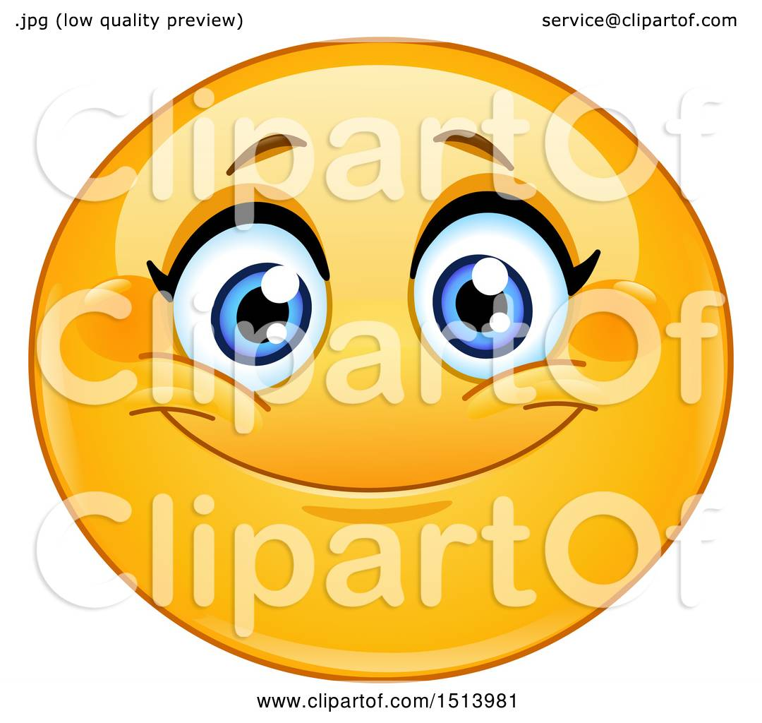 clipart of a yellow female emoji face smiling royalty free vector rh clipartof com