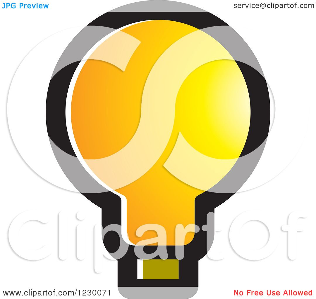 Yellow Light Bulb Icon Clipart of a Yellow Light Bulb