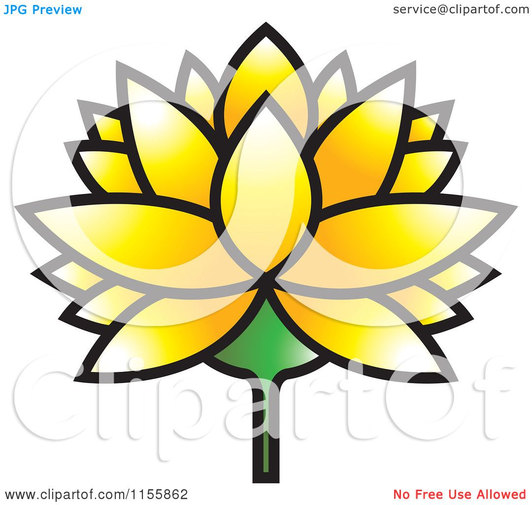 Clipart of a yellow lutus water lily flower royalty free vector clipart of a yellow lutus water lily flower royalty free vector illustration by lal perera izmirmasajfo Choice Image