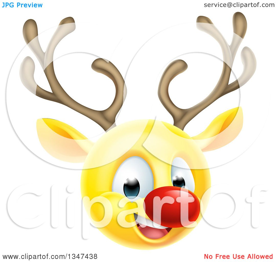 Clipart Of A Yellow Smiley Emoji Emoticon Christmas