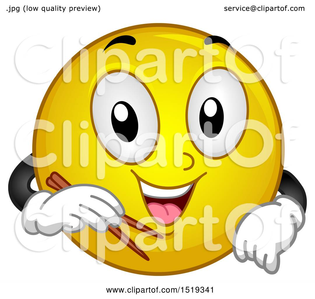 Clipart of a Yellow Smiley Emoji