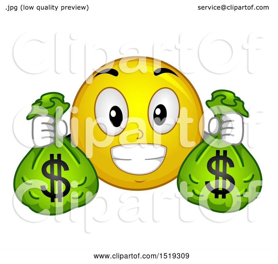 Smiley with dollar sign eyes holding money Vector Image ... |Smiley Face Holding Money