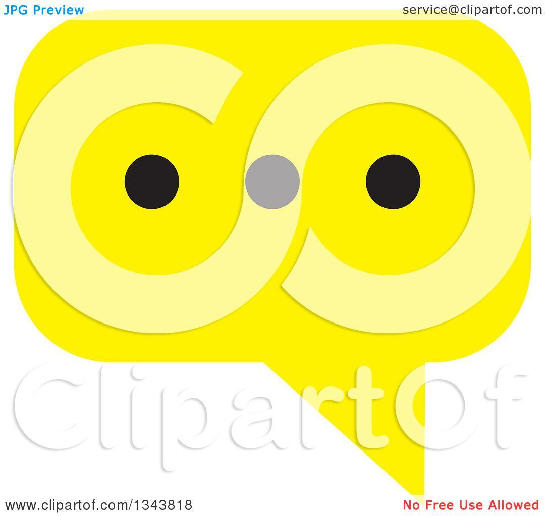 App Icon Design: Clipart Of A Yellow Speech Balloon Chat App Icon Design