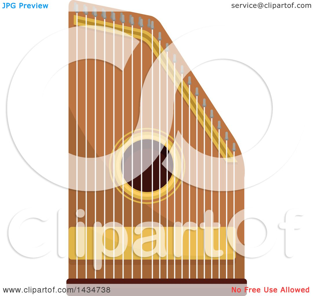 clipart of a zither instrument royalty free vector