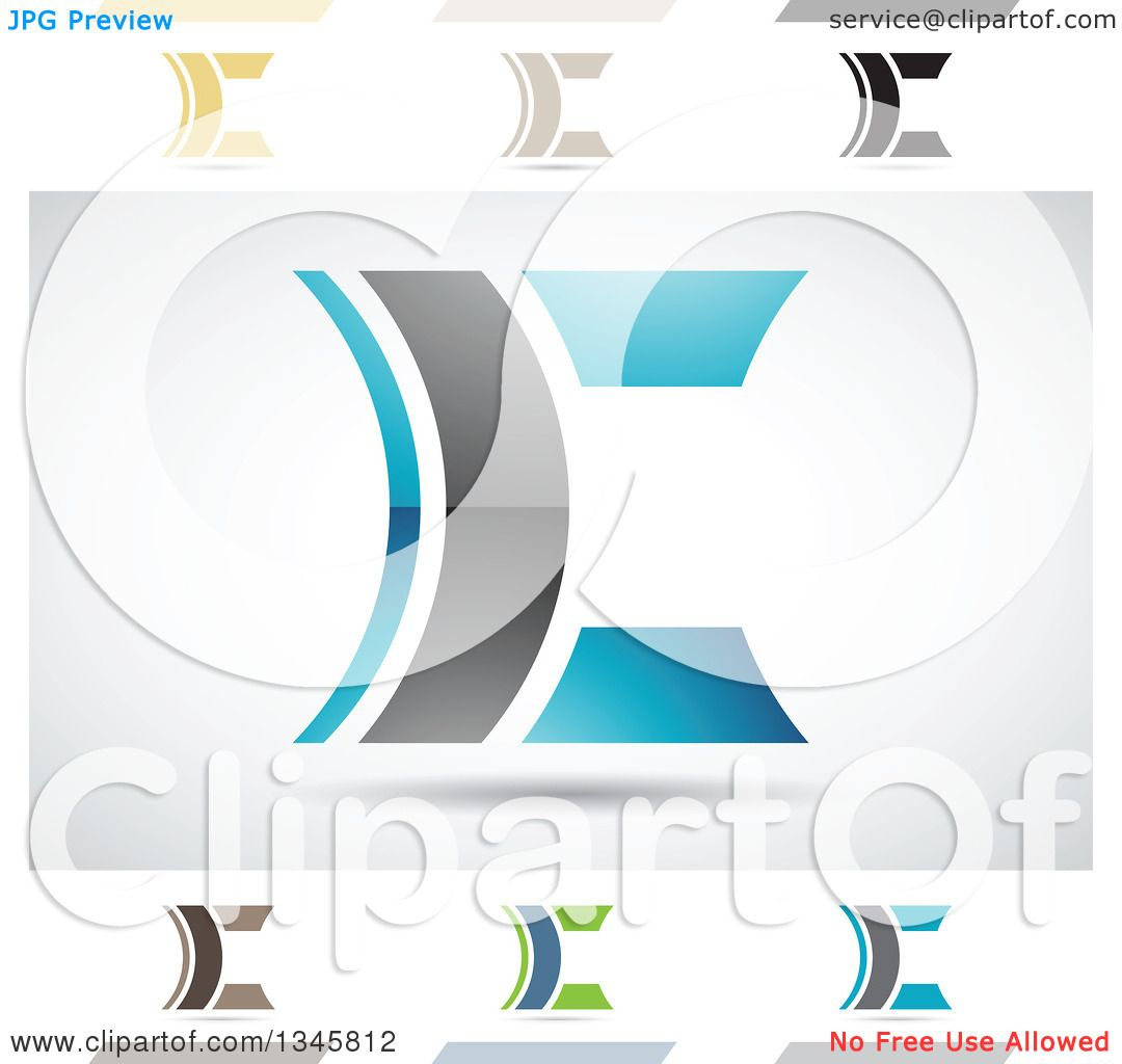 Clipart Of Abstract Letter C Design Elements