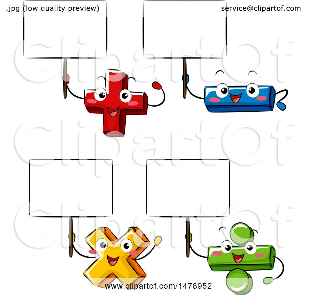 Clipart Of Addition Subtraction Division And