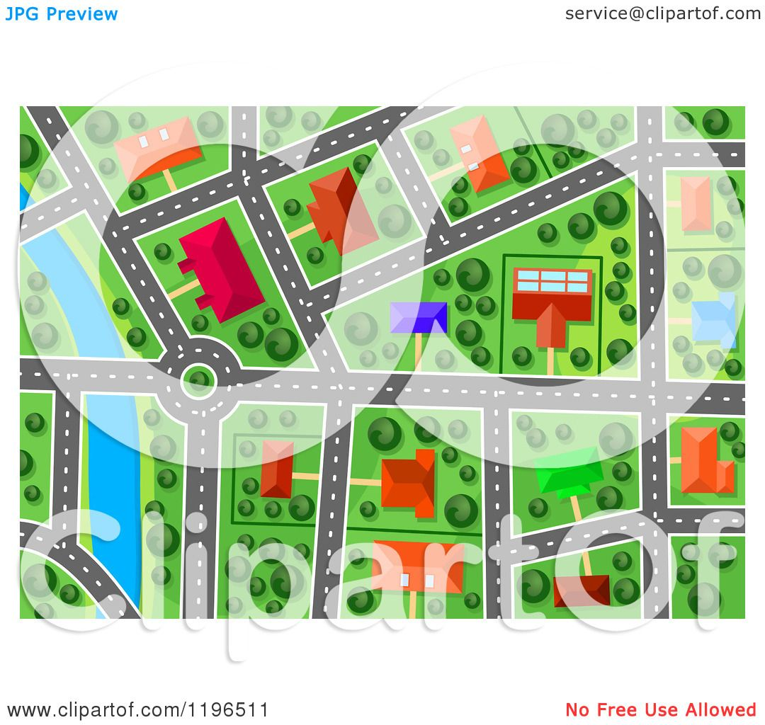 Maps Aerial Free Clipart of an Aerial Map View