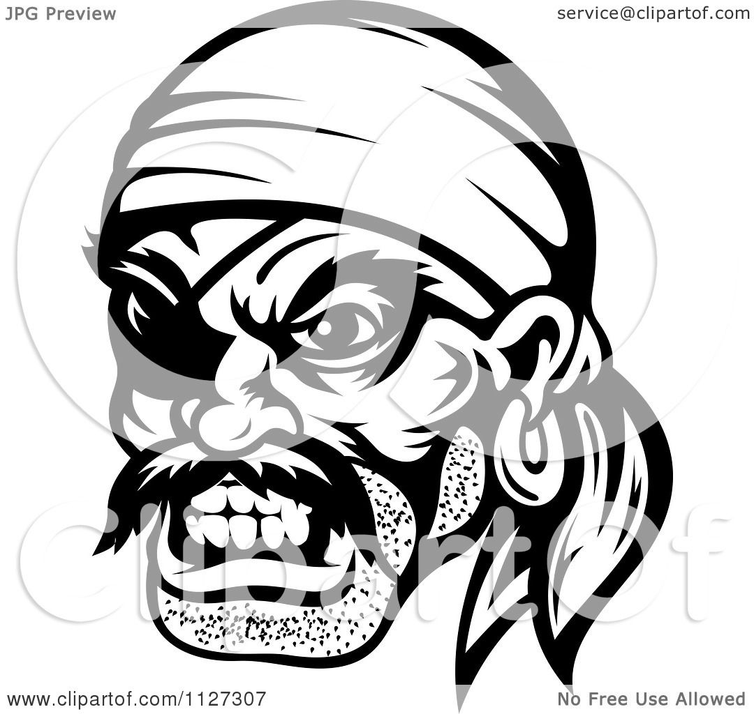 Clipart Of An Angry Black And White